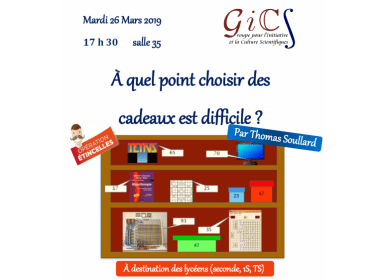 Atelier GICS (Groupe pour l'Initiative et la Culture Scientifique)